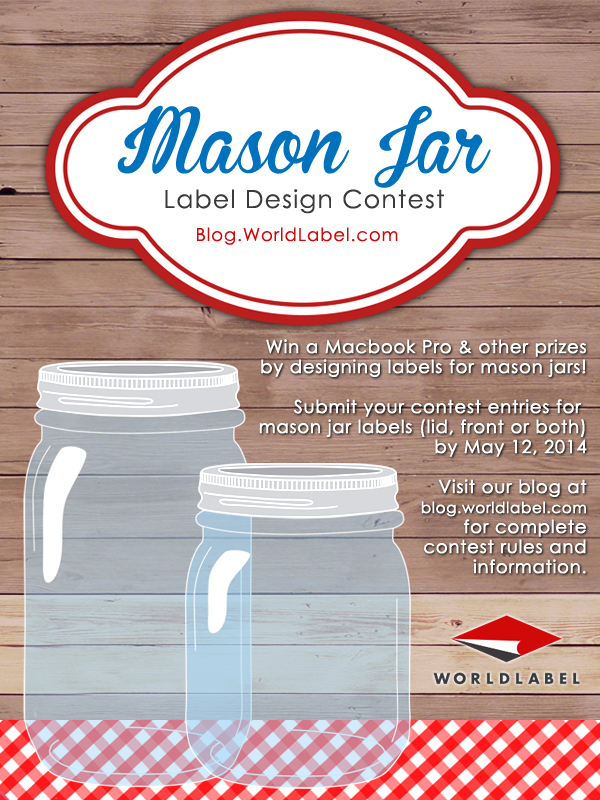 mason jar label design