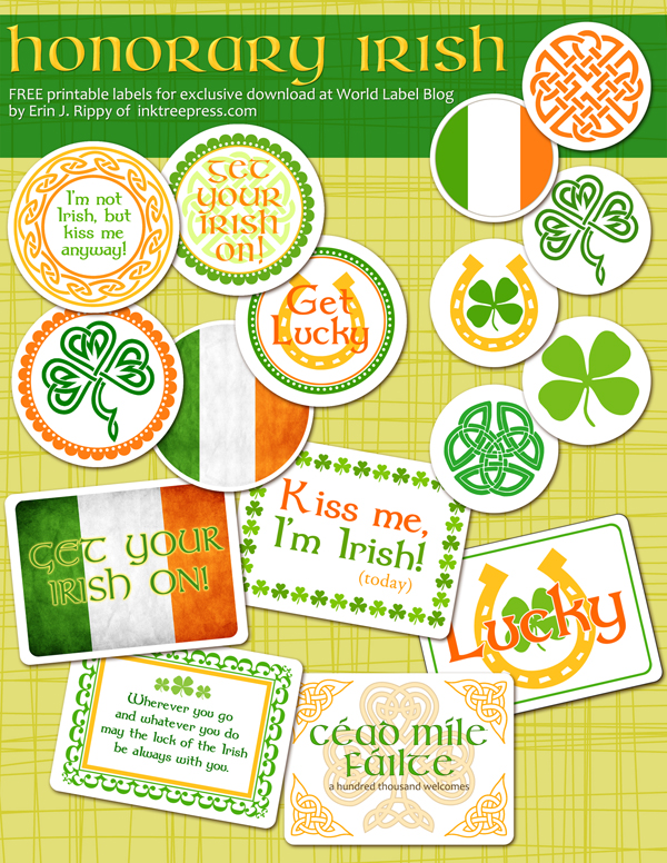 Labels for St Pattys