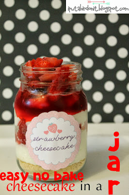 strawberry cheesecake mason jar labels (1)