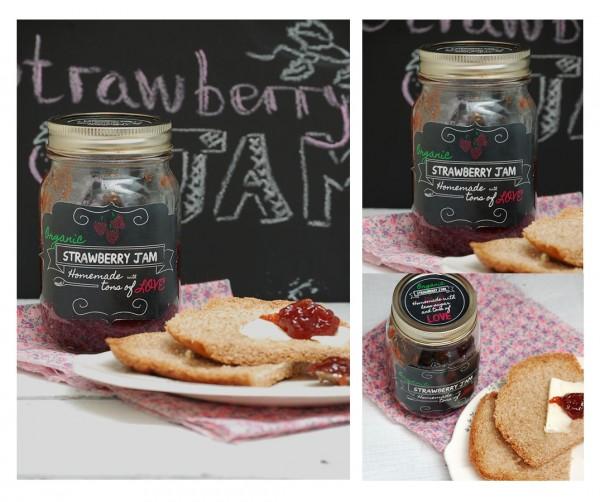 strawberry jam labels