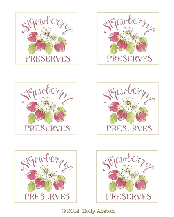 strawberry preserves Holly Abston