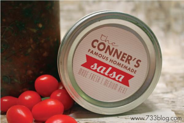 Salsa jar label