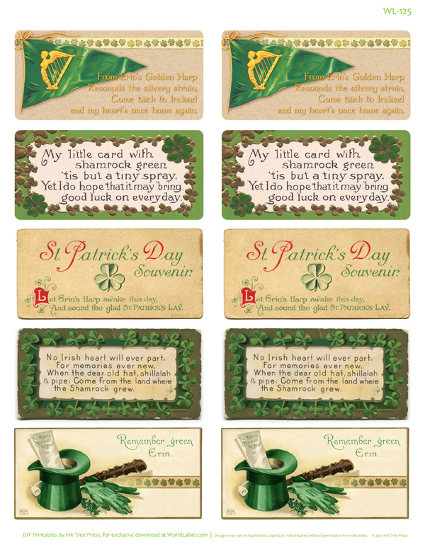 st pattys day labels