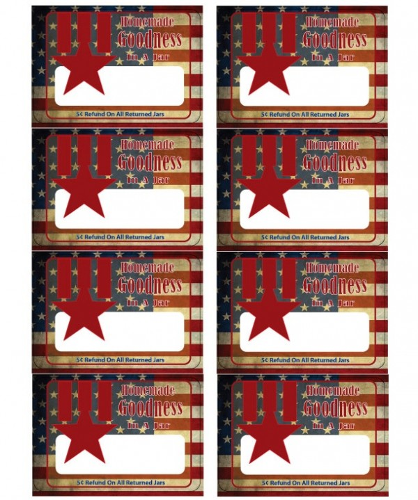 vintage Americana labels