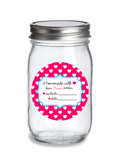world label mason jar label