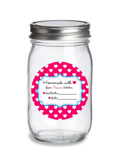 world label mason jar label