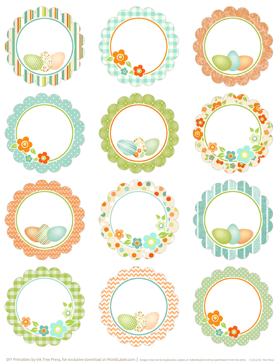 photograph about Printable Circle Stickers referred to as Spring consists of sprung Easter printable labels Totally free printable