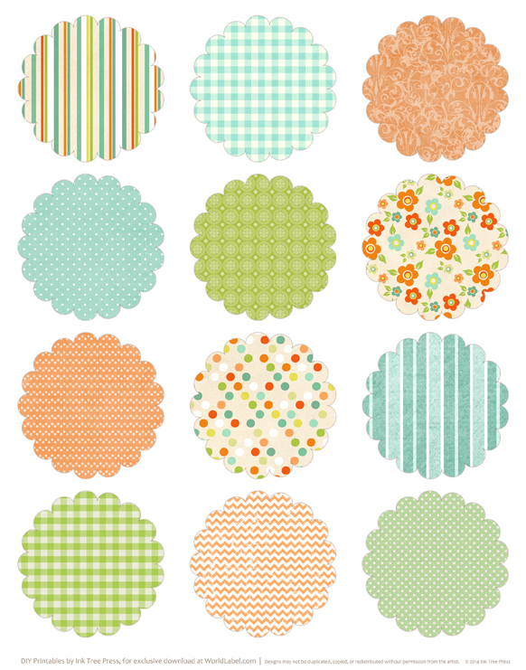 image regarding Printable Circle Stickers named Spring includes sprung Easter printable labels Cost-free printable