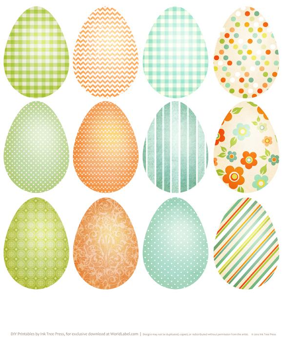 print Easter label Eggs
