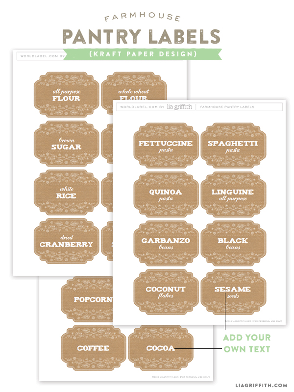 Kraft_Printable_Pantry_Labels