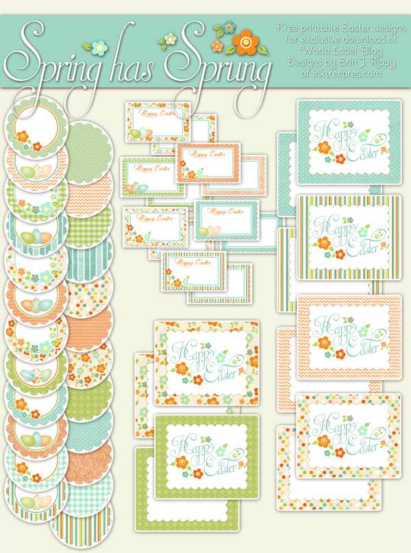 spring has sprung easter printable labels