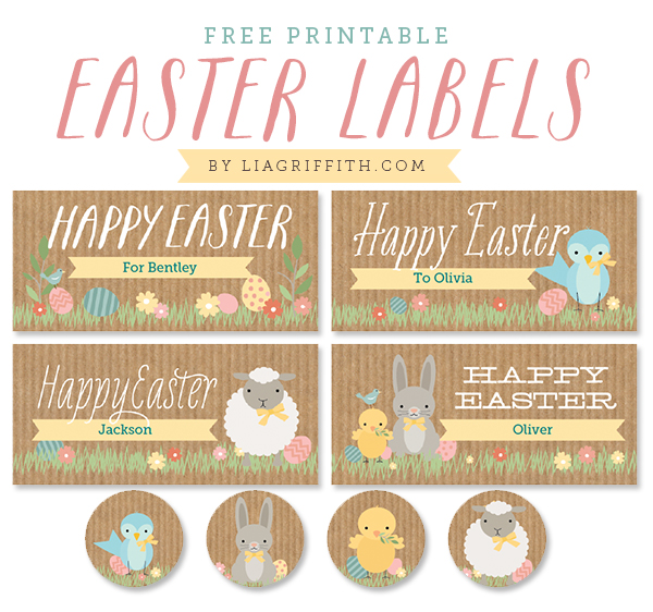 Superb image inside easter labels printable