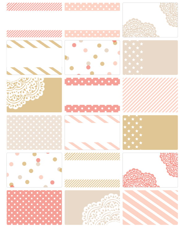 chic party label printables by falala designs