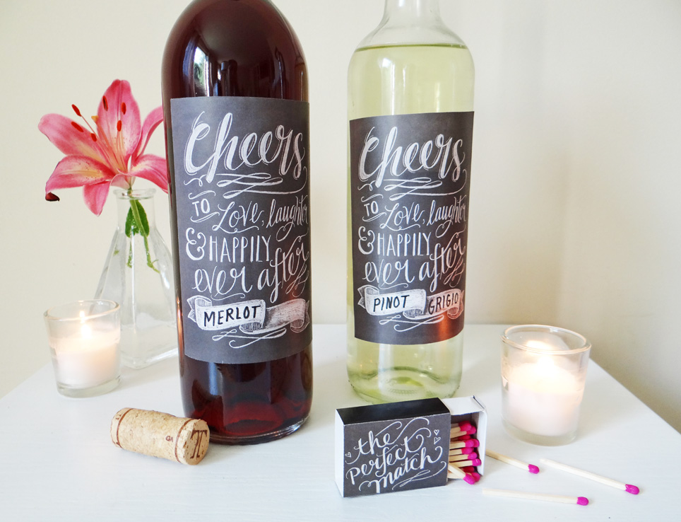 Candid image within free printable wine bottle labels