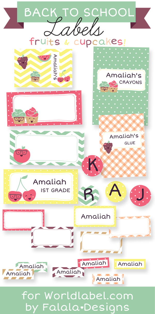 Back To School Labels By Falala Designs Worldlabel Blog