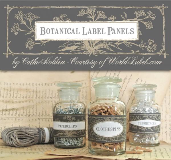 Botanical Label Panels