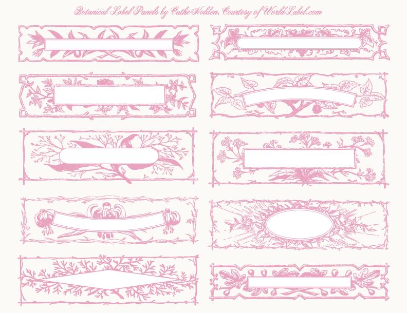 Blank vintage label