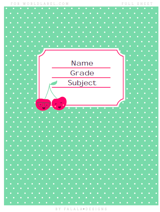 Back to School Labels by Falala Designs | Worldlabel Blog