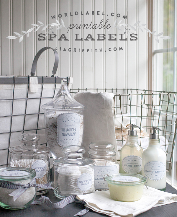 Editable and printable spa labels free printable labels - Free online bathroom design templates ...