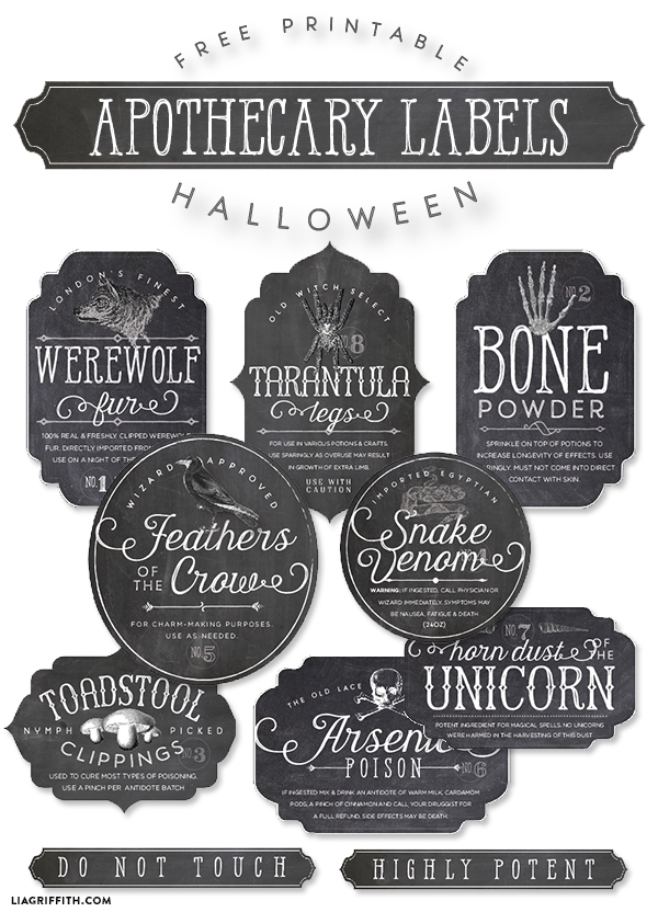 photo about Printable Halloween Labels named Printable Halloween Apothecary Bottle Labels Totally free