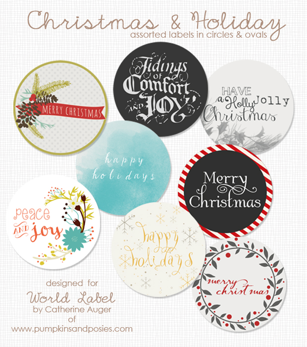 Free Printable Round Holiday Label Template Part Of A Collection