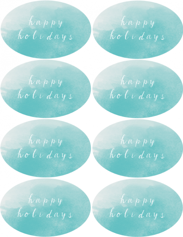 Blue Happy Holidays 550