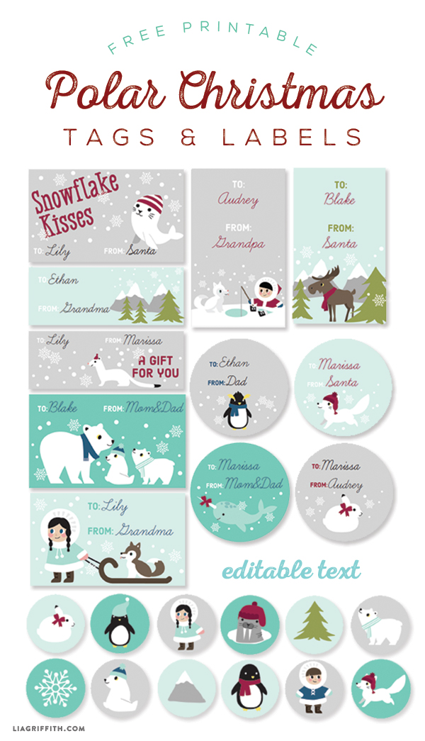 kids polar christmas labels and tags worldlabel blog