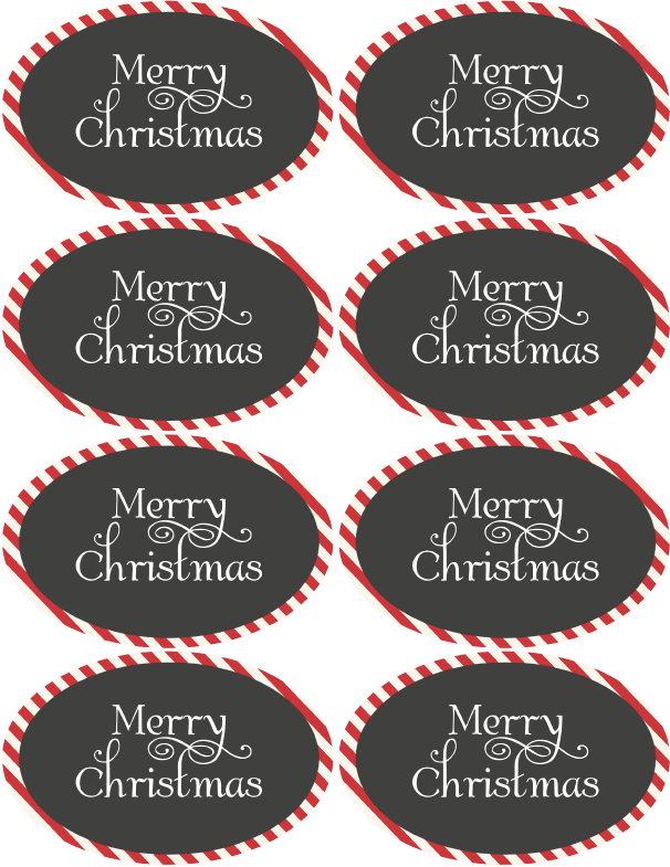 Christmas & Holiday assorted circle and oval labels | Free ...