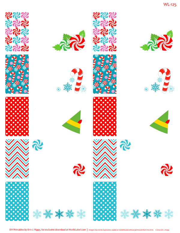 peppermint please christmas printable labels  u0026 tags
