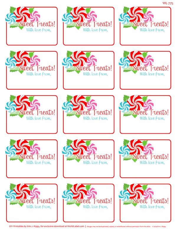 Peppermint Please Christmas Printable Labels Amp Tags Free
