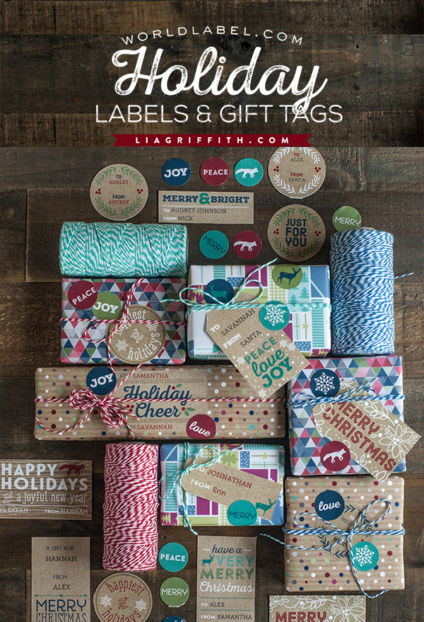 Printable Kraft Christmas Labels