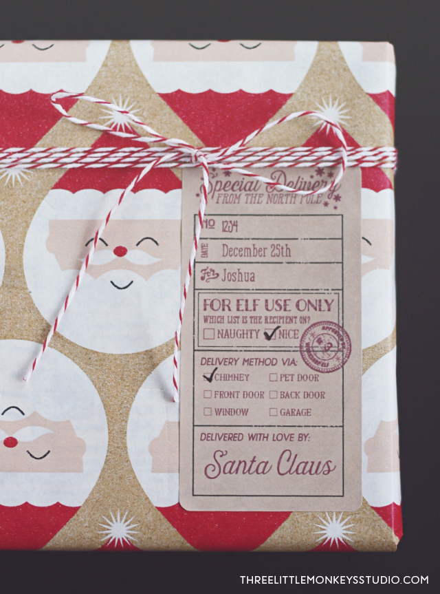 santa u0026 39 s special delivery gift label tags