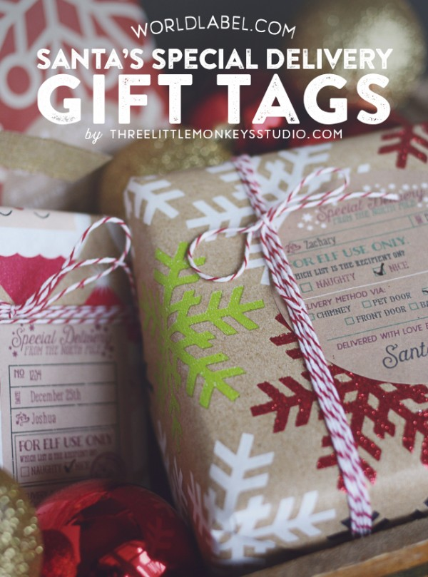 Santa gift labels