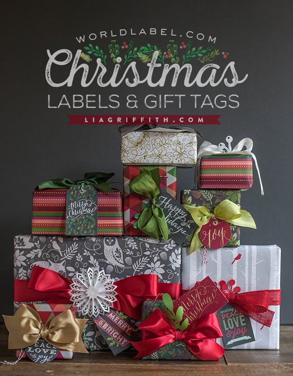 World Label Christmas Gift Tags