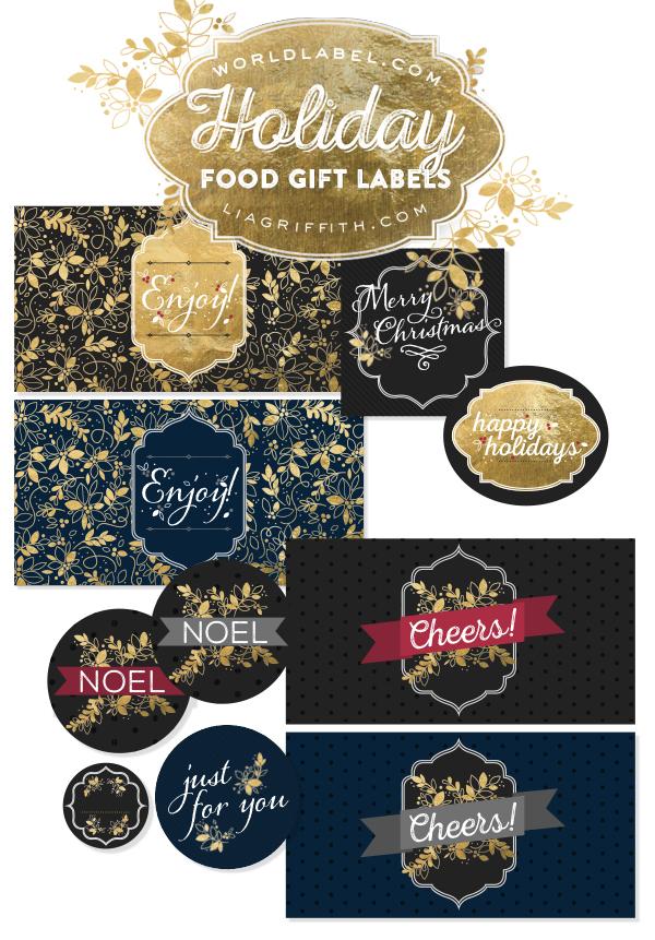 Free printable christmas gift tags for food