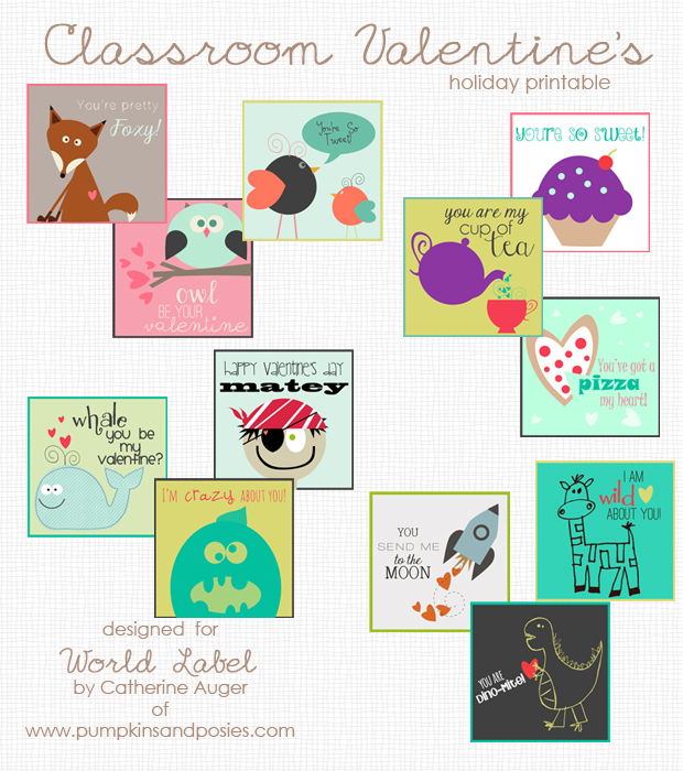 Classroom Design For Valentines ~ Free kids labels worldlabel