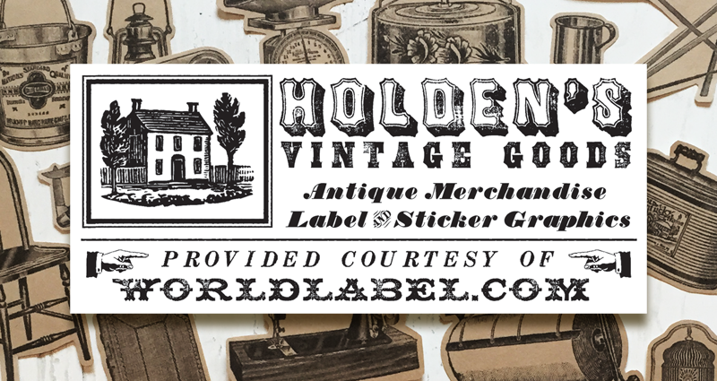 Antique vintage labels