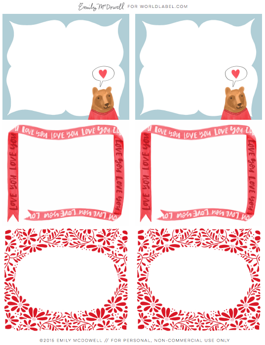 photograph regarding Valentine's Day Tags Printable known as absolutely free valentines working day labels Worldlabel Weblog