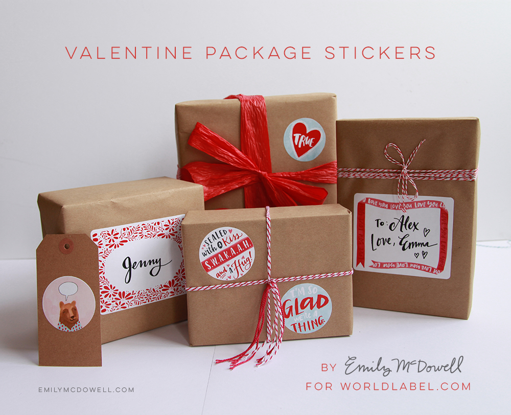 Valentines Day Labels By Emily Mcdowell Free Printable Labels Templates Label Design Worldlabel Blog