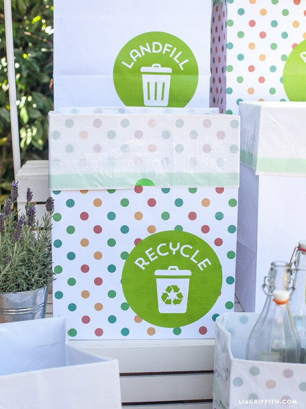 Labels_Recycle_Party_Trash