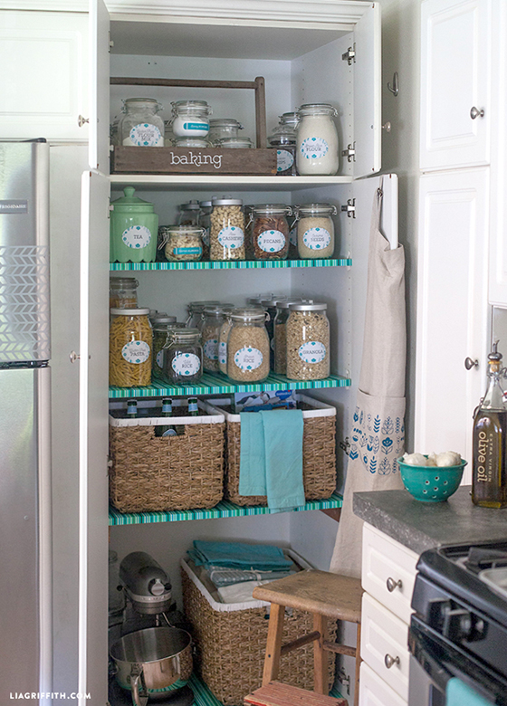 Kitchen Pantry Organized