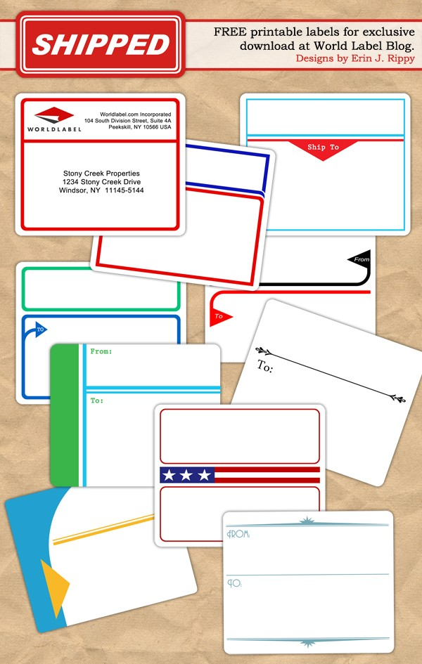 To And From Designed Shipping Label Templates Worldlabel Blog - Package mailing label template