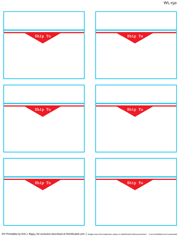 to and from designed shipping label templates worldlabel blog