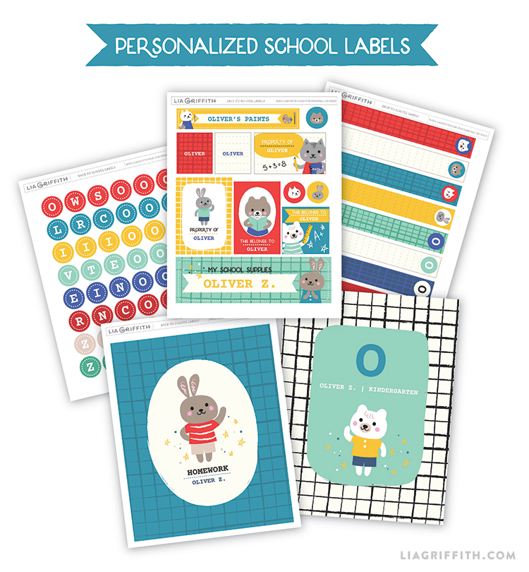 Back to School Label Printable Set Boys and Girls | Worldlabel Blog