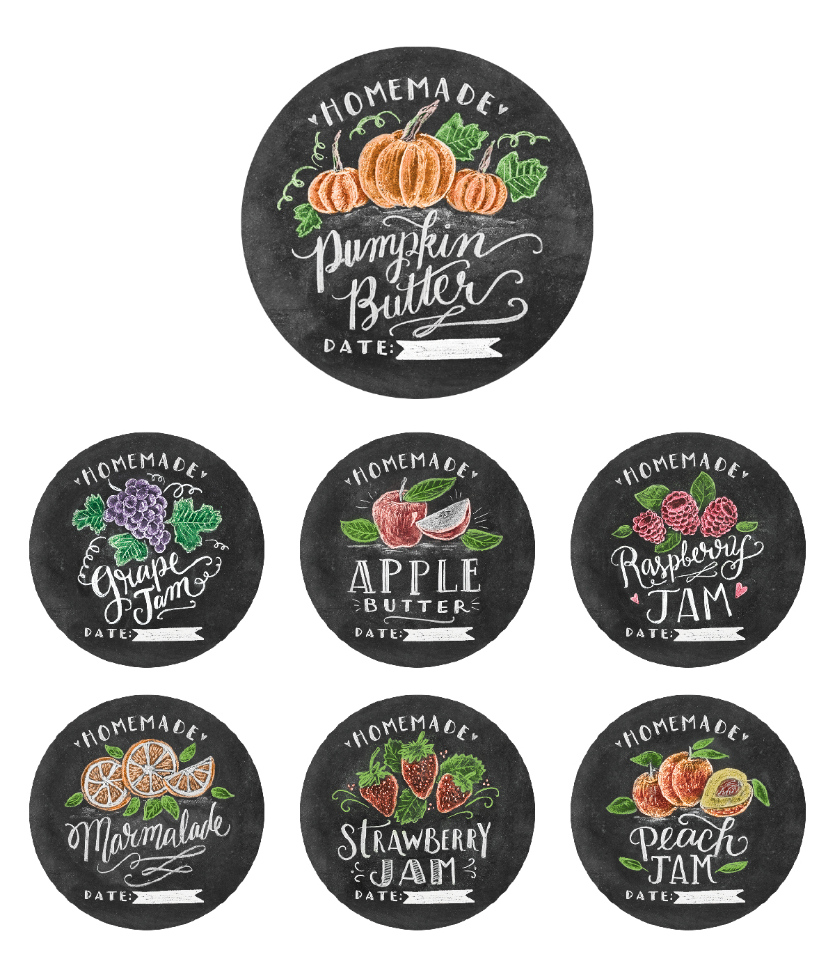 Chalk Art Jam Labels Hand-Drawn by Valerie McKeehan | Worldlabel Blog