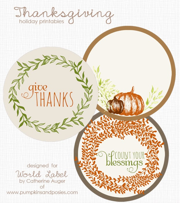 Thanksgiving Printable Labels Preview  Label Design Templates