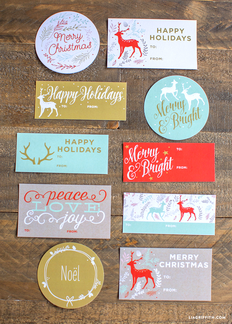 printable holiday gift labels  u0026 tags by the lia griffith