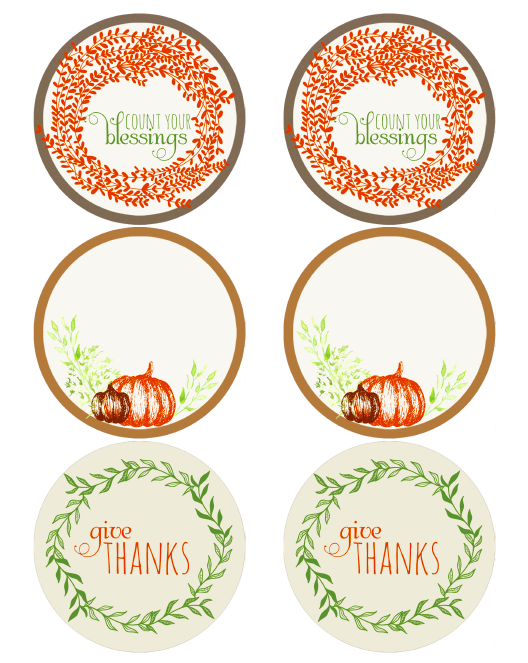 printable thanksgiving labels