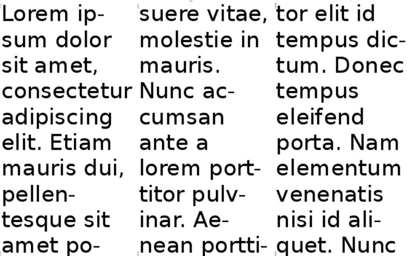 font-column-mismatch