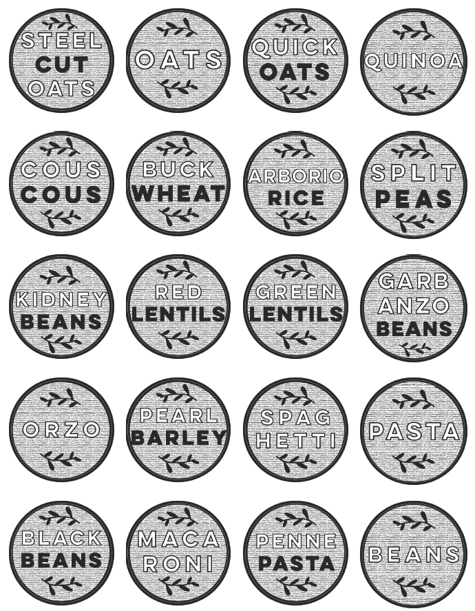 Free Modern Printable Pantry Labels By Lemonthisle